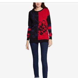 BCBGeneration color blockd jacquard sweater XS